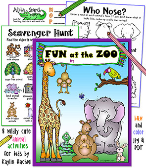 Zoo Fun Printable Activities Download