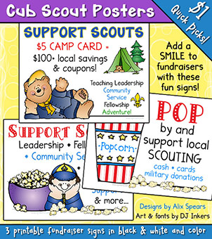 Cub Scouts Fundraiser Signs Printable Download