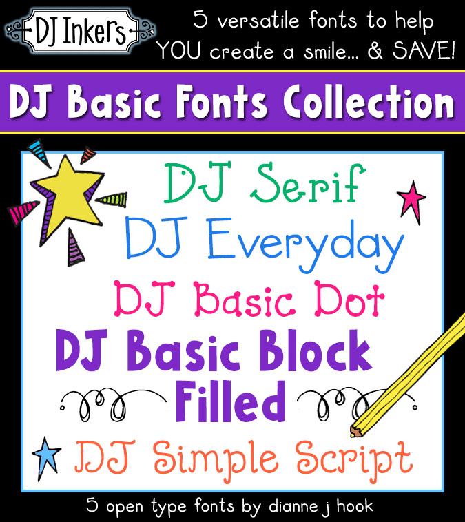 5 fun and versatile fonts for all your basic typing needs by DJ Inkers