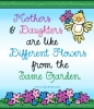 Mothers and Daughters quote with DJ Fancy Bold font and little bird clip art