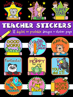 Teacher Stickers Digital Download