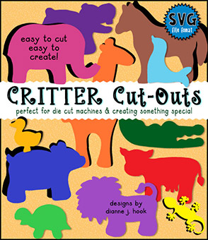 Critter Cut-Outs Collection - Animal SVG Files